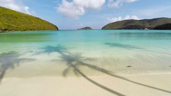 Slow motion aerial of maho bay, st john, united states virgin Islands Stock Footage