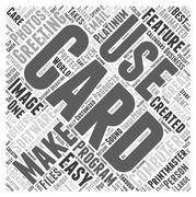 The Perfect Card Making Computer Software word cloud concept Stock Illustration