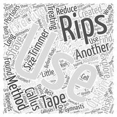 Treating Rips Effectively word cloud concept Stock Illustration