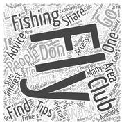Fly Fishing Clubs word cloud concept Stock Illustration