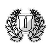 University wreath symbol Stock Illustration