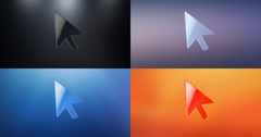 Cursor 3d Icon Stock Footage