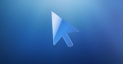 Cursor Blue 3d Icon Stock Footage