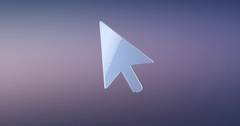 Cursor Silver 3d Icon Stock Footage