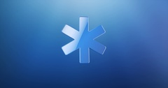 Asterisk Blue 3d Icon Stock Footage