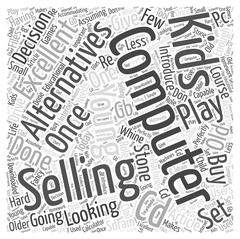 Selling Your Computer word cloud concept Stock Illustration
