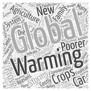 The Economics of Global Warming word cloud concept Stock Illustration