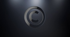 Copyright Black 3d Icon Stock Footage