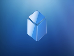 Cube Blue 3d Icon Stock Footage