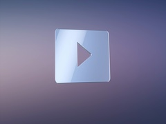 Video Play Silver 3d Icon Stock Footage