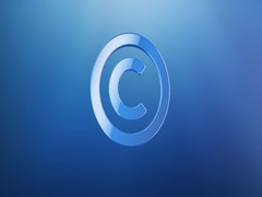 Copyright Blue 3d Icon Stock Footage