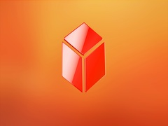 Cube Red 3d Icon Stock Footage