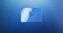 Video Play Blue 3d Icon Stock Footage