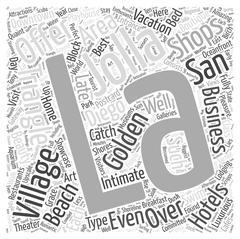 La Jolla Village word cloud concept Stock Illustration