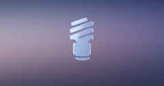 Save Bulb Silver 3d Icon Stock Footage