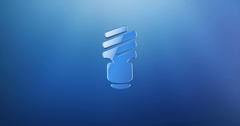 Save Bulb Blue 3d Icon Stock Footage