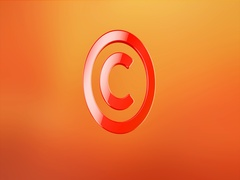 Copyright Red 3d Icon Stock Footage