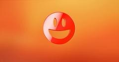 Emot Happy Red 3d Icon Stock Footage