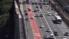 06 Aerial view of Sydney city skyline Australia Arkistovideo
