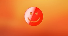 Smile Red 3d Icon Stock Footage