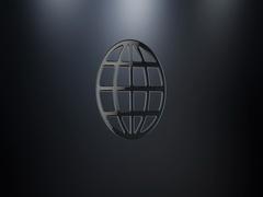 Globe Black 3d Icon Stock Footage