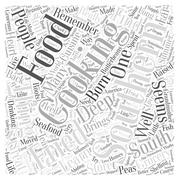 Southern Cooking Brings Soul to Food word cloud concept Stock Illustration