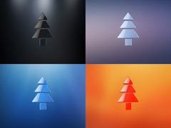 Pine Tree 3d Icon Stock Footage