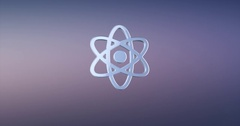 Atom Silver 3d Icon Stock Footage