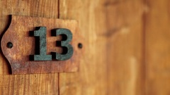 Room number thirteen Stock Footage