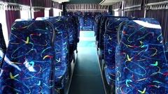 Interior of minibus Stock Footage