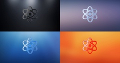 Atom 3d Icon Stock Footage