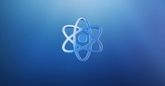 Atom Blue 3d Icon Stock Footage