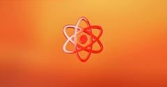 Atom Red 3d Icon Stock Footage