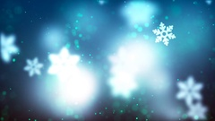 Christmas loopable background with nice falling snowflakes Stock Footage