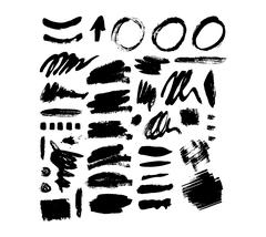 Brush stroke vector set Stock Illustration
