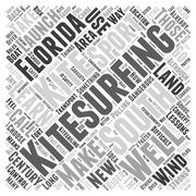 South florida kitesurfing word cloud concept Stock Illustration