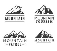 Mountain vector icons set Stock Illustration