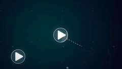 Play Button Network Icon Link Connection Technology Loop Animation 4K Stock Footage