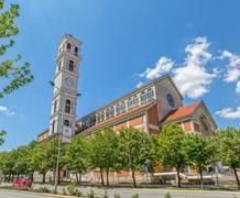 The Cathedral of Blessed Mother Teresa in Pristina Stock Photos