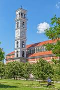 The Cathedral of Blessed Mother Teresa tower Stock Photos