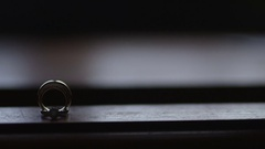 Weddding Jewelry on the table Stock Footage