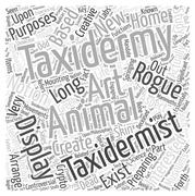 Preparing for the taxidermist word cloud concept Stock Illustration