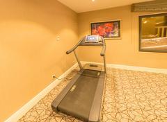 Running treadmill at the house Stock Photos