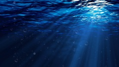 Underwater scene with bubbles and fish, Abstract Loopable Background Stock Footage
