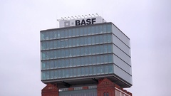 BASF building, Berlin skyline, Germany Stock Footage