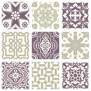 Classic vintage elegant pastel violet seamless abstract pattern Stock Illustration