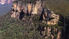 Landscape Grose Valley Blue Mountains Australia Stock Footage