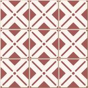 Ceramic tile pattern of round corner square check cross line Stock Illustration