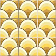 Ceramic tile pattern of oriental Chinese golden dragon scale Stock Illustration