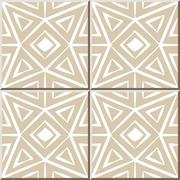 Ceramic tile pattern of octagon triangle check cross geometry Stock Illustration
